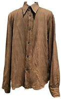 COSTUME NATIONAL MEN'S TAN COTTON DRESS SHIRT, 50, $695