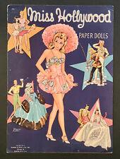 """Miss Hollywood� 1942 Lilja Uncut Paper Dolls Vintage"