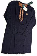 LAUREN RALPH LAUREN Womens NightGown Night Gown Pajamas Medium Black M  NEW