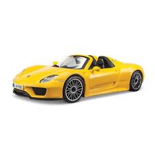 BBURAGO 21076 Porsche 918 Spyder Jaune Maßstab : 1:24 NEUF !°