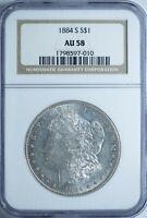 1884-S Morgan *Key Date* NGC AU58 Silver Dollar!