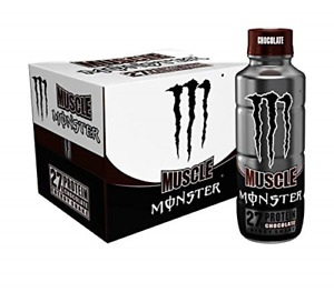 Muscle Monster Chocolate Energy Shake Protein Energy Drink, 15 ounce Pack of 12
