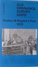 OLD ORDNANCE SURVEY DETAILED MAP EUSTON & REGENTS PARK  LONDON 1870   SHEET 49