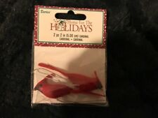 New Nip 2 Piece 2 Inch Faux Cardinals