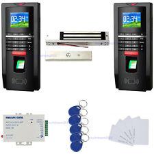 Color Bio sistema de control de huellas dactilares Doble vía de seguimiento EM