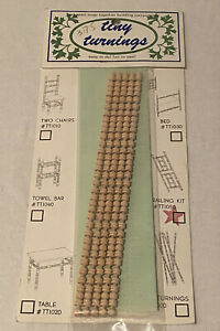Tiny Turnings Miniature Cut Apart-Snap Together Railing Kit Dollhouse Supplies