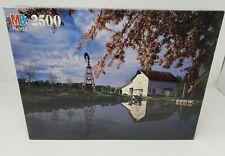 Milton Bradley 2500 Piece Jigsaw Puzzle Pond With Barn Factory Sealed  1993