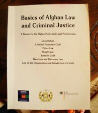 Afghanistan Law Book RARE police courts criminal justice SEAL JAG OEF OIF