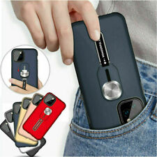 For iPhone 11 Pro X XS Max XR 8 7 6 Plus Shockproof Armor Ring Holder Case Cover