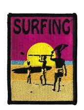 Surfing Embroidered Iron On Patch - Surf Board Water Sports Beach Fun 149-X