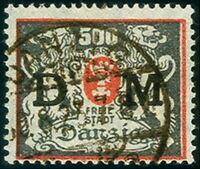 Danzig - Dienst Mi. D39 gestempelt Fotoattest Soecknick BPP 1923 Staa.. (3265)