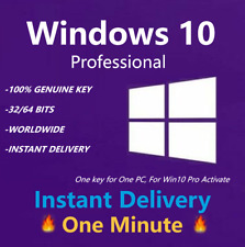 MS Windows 10 Professional License Product Key WIn10 Pro 1 PC INSTANT SEND 32/64