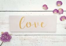 Hand Painted Wooden Love Sign Plaque Wedding Decor New Home Housewarming Gift