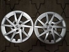 "Pair of 2 Brand New 2012 2013 2014 2015 Prius 16"" Wheel Covers Hubcaps 61165"