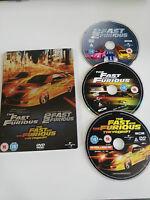 FAST AND FURIOUS + 2 FAST 2 FURIOUS + TOKYO DRIFT TRILOGY 3 X DVD STEELBOOK