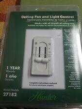 Hunter Ceiling Fan Fan/Light Dual Slide Wall Control - #27182 - Light Almond