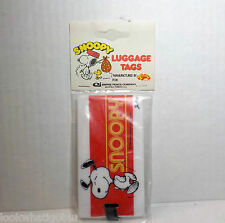 Vintage Snoopy Peanuts Luggage Tag NIP Empire pencil co Aviva