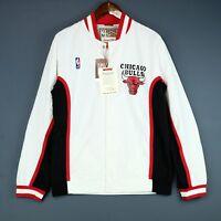 100% Authentic Mitchell & Ness Bulls Warm Up Jacket Size 40 M - jordan pippen