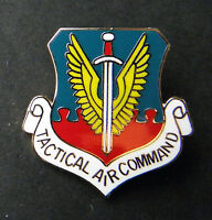 US AIR FORCE USAF TACTICAL AIR COMMAND LAPEL PIN BADGE 1 inch