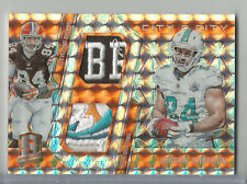 2016 Spectra Jordan Cameron City 2 City Game Used Jersey Logo Patch Relic #2/3