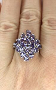 Tanzanite Gemstone Ring, Size R/S, Gems Tv/ Gemporia