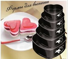 Nuevo 5 un. resorte en forma de Corazón Forma Antiadherente Pastel De Bodas Hornear Conjunto de latas Pan
