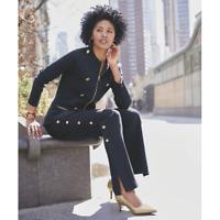 Ashro Navy Gold Brynnlee Sweater Cardigan Jacket Blazer or Nika Wide Leg Pant