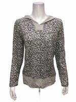 Cuddl Duds Ultra Comfort Hooded Tunic with Rib Detail Grey Heather Small Size
