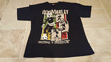 Bob Marley Football is Freedom T-Shirt Mens Womens Size Medium Soccer Reggae