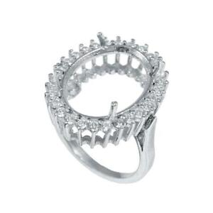 925 Silver Semi Mount Ring Oval Setting 10x14 mm,12x16 mm,13x18 mm,15x20 mm oval