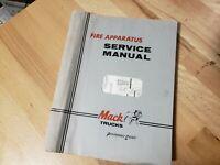 Mack Trucks  Fire Apparatus Service Manual  1966   Mack Trucks Fire Trucks Book