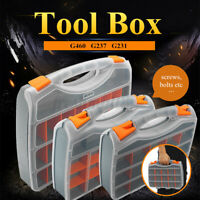 24 Compartment Tool Box Organiser Case Storage Screw Nail Nut Bolt Toolbox ✔☆