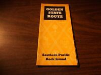 APRIL 1938 SOUTHERN PACIFIC-ROCK ISLAND GOLDEN STATE ROUTE ROUTE GUIDE