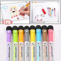 Magnetic White Board Marker Pens With Dry Erase Eraser Office School Supplies
