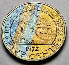 1972 Sudan 50 Ghirsh KM# 56.1 FAO Revolution Bulls Gem BU 40 mm # WB 11 1392