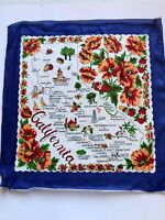 "17"" Square Vintage California Silk Handkerchief Knotts Palm Springs Death Valley"