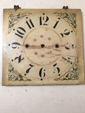 Antique Wood Works Clock Painted Clock Face Dial From Boardman Groaner