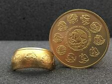 24K Solid Gold Coin Ring | 1oz  999 Gold | Mexican Libertad