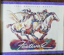 """KENTUCKY DERBY POSTER~1997 Festival 30x24"""" Original Jeaneen Doreen Barnhart Rare"""