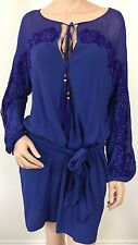EMILIO PUCCI UK 10-USA 8 -I 42  RRP £ 2280 ELECTRIC BLUE TUNIC DRESS -BELT & BAG