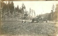 Break Time C-1910 Farm Agriculture Workers RPPC Photo Postcard 8614