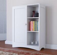 Floor Cabinet Painted White 3 Shelves 1 Cupboard Storage Unit Kitchen