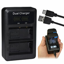 Battery LCD USB DUAL Charger FOR Panasonic Lumix DC-G9/ DC-GH5