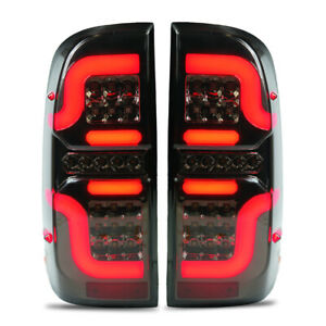 LED RED BLACK TAIL LIGHT LAMP FOR TOYOTA HILUX VIGO SR5 MK6 MK7 CHAMP 05-2014
