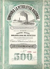Cia. La Petrolifera Nacional, San Sebastian 1928, 500 Pesetas