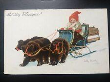 Carte postale fantaisie enfants ours