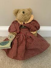 Boyds Bears Bearwear Investment Collection Patsy Checkered Dress Bear Nwt