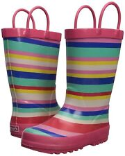 NEW Carter's Girls' Viona Rain Boots Pink 11 M US Toddler Baby Shoes