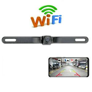 License Plate Car Reverse Camera Night Vision Wireless Display For Android/IOS