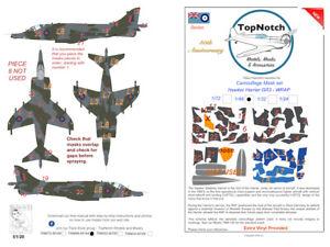 TopNotch Hawker Harrier GR 3 wrap around camouflage scheme vinyl mask set